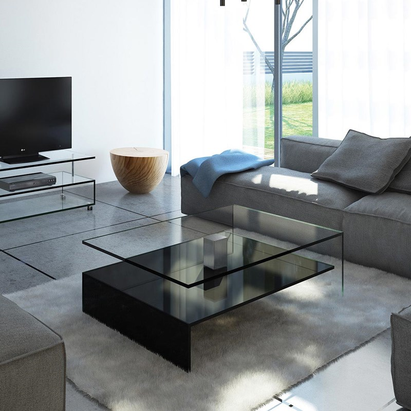 Design Glass Coffee Table By Dreieck Nuo - What Color Should A Sofa Table Be