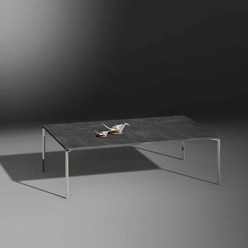 Ceramics coffee table FILIO - 60 x 60 x 42 cm ceramic sand earth - 120 x 60 x 36 cm ceramik Pietra grey