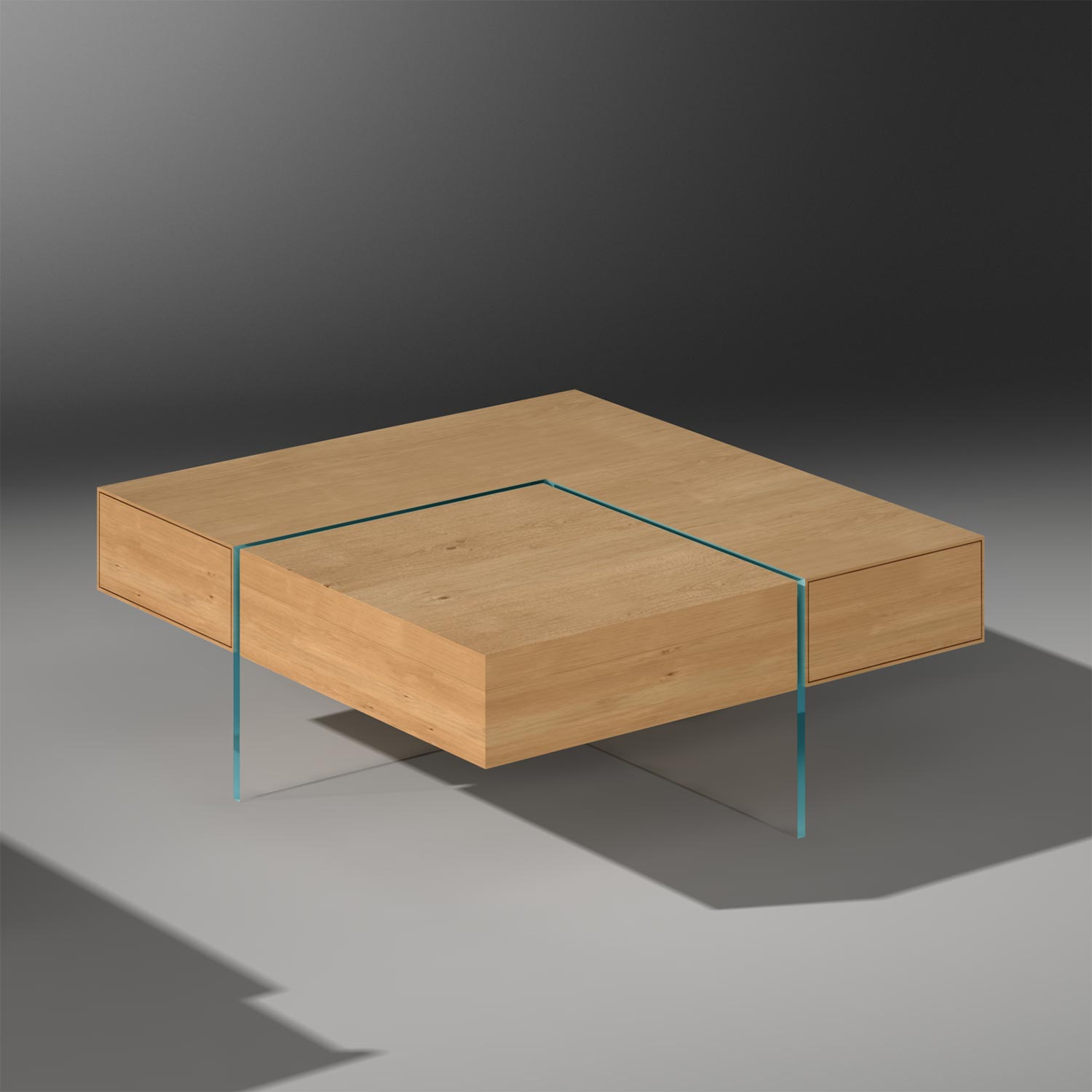 Buy Solid Wood Coffee Table With Drawers By Dreieck Design Monument